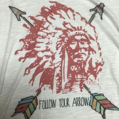 Xoxo company Indian chief tee Xoxo company Indian head tee western style/ gypsy     Cowgirl paid 60 Urban Outfitters Tops Blouses