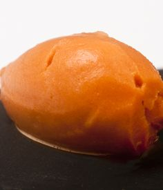 Christoffer Hruskova is a master of the intriguing dessert. Here he creates a carrot sorbet which provides a healthier alternative to ice cream.