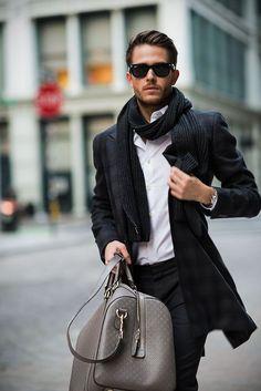 "Once around way to wear scarf - Men's Fashion Blog - <a href=""http://TheUnstitchd.com"" rel=""nofollow"" target=""_blank"">TheUnstitchd.com</a>"