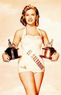 Maribel Arrieta. Segundo lugar Miss Universo 1955, Diplomática y Actriz Salvadoreño.