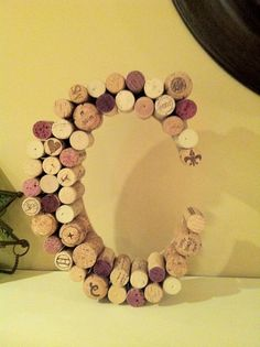 vino wine cork letters with kappa decor