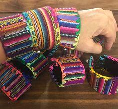 Boho Style Bracelet. – Zoeartcrafts Fashion Bracelets, Jewelry Bracelets, Jewelry Crafts, Handmade Jewelry, Weaving Textiles, Boho Style, My Style, Colorful Bracelets, 1 Piece
