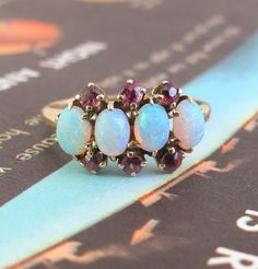 Opal and Ruby Ring c1880