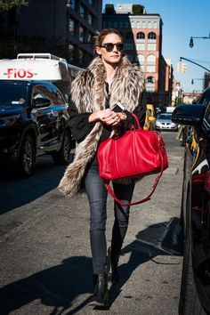 Anybody else feeling some serious bag envy right now? #refinery29 http://www.refinery29.com/olivia-palermo-style-pictures#slide-16