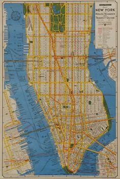 Florentine Print Map NewYork City