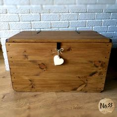 HANDMADE WOODEN CHEST/ TRUNK/ BLANKET BOX/ TOY BOX/ OTTOMAN/ COFFEE TABLE   This beautiful chest is made from new, solid pine wood . The chest is individually prepped, assembled and finished by hand to give each one its own unique character to replicate the look of old vintage shipping trunks. I Deck Box, Adjustable Coffee Table, Unfinished Wood Boxes, Wood Trunk, Blanket Box, Trunks And Chests, Decoupage Box, Coffee Table With Storage, Table Storage