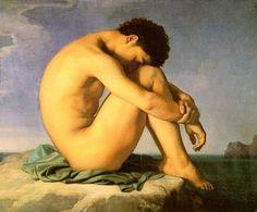 Flandrin,_Hippolyte_(1805-1864)_-_Jeune_homme_nu_assis___1855_-_Louvre