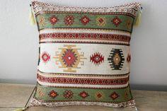 "18""X18"" inch, Turkish Kilim, Rug Pillow, Home Decor, Throw Pillow, Ethnic Pillow Case,  Pillow Sleeve, Ethnic Cushion Cover, Floor Pillow"