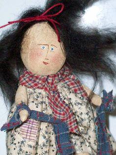 Sew Be It Piggy Back doll on pig by SistaSisu on Etsy, $52.00