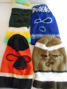 1a0e6d594cb Lot 4 Vintage 1970s Ski Masks Skull Caps Hats Robber Creepy Scary Winter  Warm Retro 70s Ski Snow Hats Assorted Colors