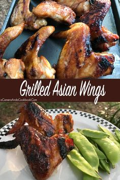 Grilled Asian Chicken Wings - Try these grilled wings for a different spin on an old favorite!
