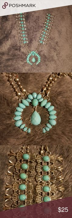 Blossom Squash necklace Beautiful turquoise and silver navajo necklace. Jewelry Necklaces