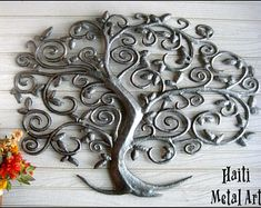 Your Shop - Manage Listings - Etsy Metal Sculpture Wall Art, Metal Art Decor, Metal Tree Wall Art, Tree Sculpture, Tree Of Life Art, Tree Art, Tree Wall Decor, Wall Art Decor, Drums Art