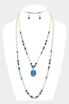 Crystal May Necklace in Sapphire on Emma Stine Limited