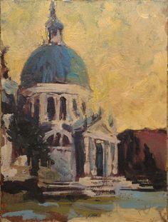 Maciej Baran, Santa Maria della Salute, olej, 18 x 24 cm, Wenecja 2013