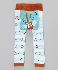 Blue Flying Guitar Leggings by Doodle Pants