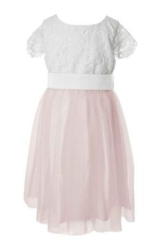 5d231dd40 White Lace Top and Colour Tulle Skirt Flower Girl Dress Dusty Pink Bridesmaid  Dresses, Dusty. Matchimony