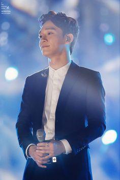 Chen - 150904 2015 Grand Hallyu Festival/Grand K-POP Festival - so handsome