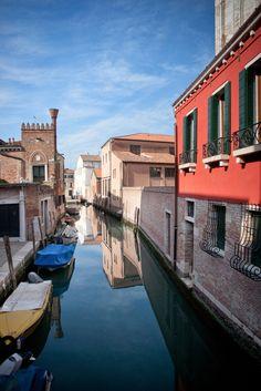 Dorsoduro Colors - Colorful scene along a canal in Dorsoduro, Venice