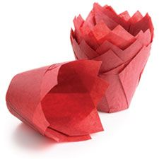 Tulip papers, Red. Set of 24, perfect for muffins and other food gifts. $7