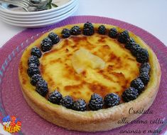 Crostata+alla+crema+cotta+ananas+e+more