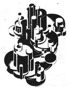 YAKOV CHERNIKHOV CHEMICAL VOLUMES, THE CONSTRUCTION, 1930s