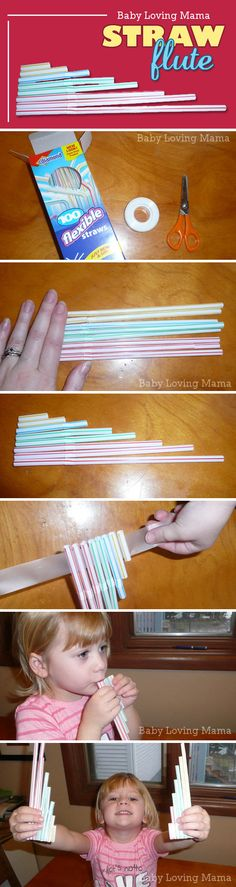 Homemade Straw Flute Craft Tutorial - so easy and fun! It works too.