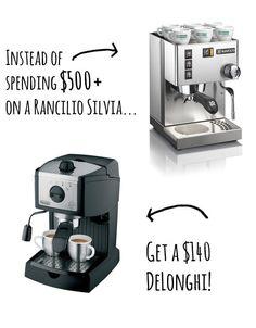 Espresso Machine: Rancilio Silvia vs. DeLonghi | 13 Cheaper Alternatives To Life's Expensive Necessities