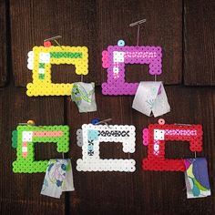 Sewing machines perler beads by cyntergomes Perler Bead Templates, Pearler Bead Patterns, Diy Perler Beads, Perler Bead Art, Perler Patterns, Pearler Beads, Fuse Beads, Pony Bead Crafts, Pixel Beads