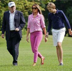 Pres. Trump, Melania and Barron