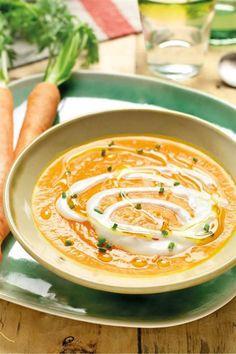 crema de zanahoria. Crema de zanahoria Healthy Recepies, Healthy Snacks, Healthy Eating, My Recipes, Snack Recipes, Cooking Recipes, Menu Express, Curry, Sin Gluten