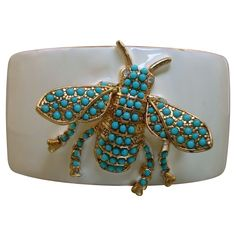 RARE Kenneth J Lane Bee Cuff Bracelet - wide & chunky