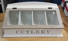 Easy access cutlery storage. Could be lovely in a light bright kitchen.