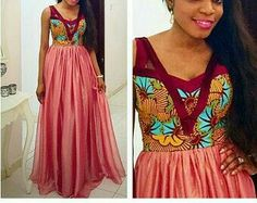 African Maxi Gown Dress - The African Clothing Ankara Dress Styles, African Maxi Dresses, Latest Ankara Styles, African Dresses For Women, African Wear, African Attire, African Women, Long Dresses, African Skirt