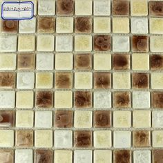Collection: Porcelain Mosaic Tiles; Material: Porcelain; Shape: Square; Color: Beige,Grey and Brown; Size: 300 x 300 x 4 mm; Chip Size: 25 x 25 mmMosaic Tiles specializes in quality handcrafted porcelain mosaic tiles that add excitement to your pool, home, and outdoor area. They are composed of colored porcelain tiles of different shapes and sizes arranged to form lifelike images.Each sheet of the porcelain mosaic tile is approximately 1 sq ft per sheet and is mesh mounted for easy… Glass Tile Backsplash, Glass Mosaic Tiles, Stone Mosaic, Kitchen Backsplash, Mosaic Tile Designs, Tile Projects, Porcelain Tiles, Shapes, Rock Mosaic