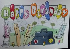Cool birthday card by gpikeart@gmail.com