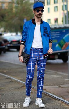 Love the plaid pants with sports jacket and crisp whites.