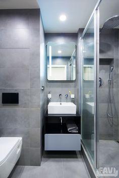 Moderní koupelny inspirace - Rekonstrukce garsonky | Favi.cz