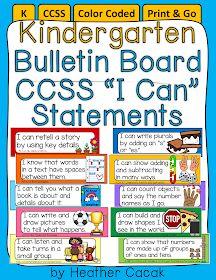 "Editable Bulletin Board ""I Can"" Target Statement Cards {CCSS Kindergarten} Kindergarten Focus Walls, Kindergarten Goals, Kindergarten Bulletin Boards, Kindergarten First Day, Kindergarten Activities, Learning Activities, Kindergarten Addition, Persuasive Writing, Writing Rubrics"
