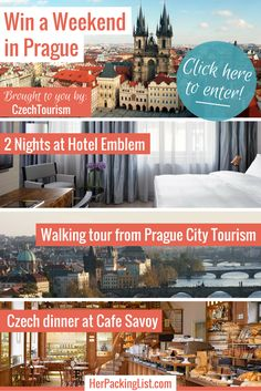 win a weekend in Prague from #herpackinglist