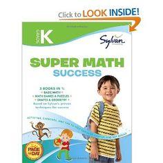 $13 Kindergarten Super Math Success (Sylvan Super Workbooks) (Math Super Workbooks): Sylvan Learning: 9780375430480: Amazon.com: Books