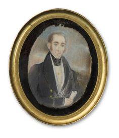 Abraham Parsell (1791-1856), attributed, Miniature Portrait of George H. Bruen, ca. 1835.