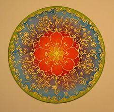 Silk mandala pictures, 25 cm