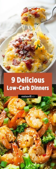 If you're trying to limit your carbs intake, we've got you covered. These delicious low-carb dinner recipes will satisfy any craving, and are a cinch to whip up. No need to sacrifice taste for good… paleo dinner recipes Low Carb Paleo, High Carb Foods, High Protein Low Carb, Low Carb Diet, Diet Foods, Calorie Diet, No Carb Recipes, Low Carb Dinner Recipes, Diet Recipes