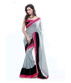 New Latest Gray Color Georgette Saree   #saree #georgettesaree #indiansaree