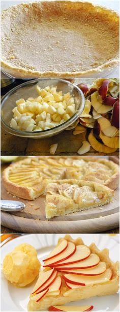 RECEITA QUE APRENDI EM UM CURSO QUE FIZ…FICA MUITO GOSTOSA!! VEJA AQUI>>>Em uma panela, coloque a água e o açúcar e leve ao fogo Ao ferver, junte as fatias de maçãs para cozinhar levemente sem deixar desmanchar, apenas uns 2 minutos #receita#bolo#torta#doce#sobremesa#aniversario#pudim#mousse#pave#Cheesecake#chocolate#confeitaria