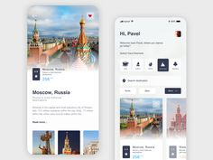 Travel application Moscow by Pavel Kodanev What are the best travel apps? Ui Design Mobile, Mobile Application Design, App Ui Design, Interface Design, Flat Design, Design Design, Travel Website Design, Website Design Layout, Design Thinking