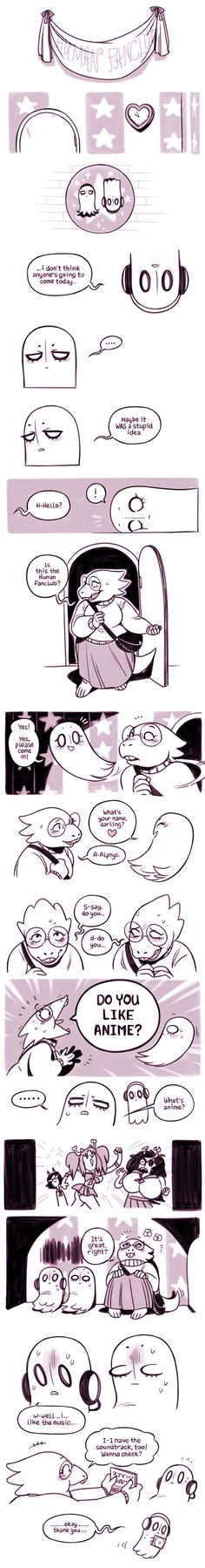 Undertale, Napstablook, Mettaton, and Alphys, part 3 Human Fan Club first meeting!