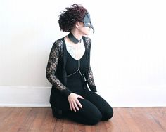 Leather Collar Body Jewelry Harness $42. By amIndependent on Etsy -- Chain choker body jewelry is playful and provocative. Black leather choker features bright silver tone curb chains. Fitted choker collar necklace made from jet black genuine lambskin leather. chains attach to the collar at center front, run down the chest, and split right below the bust.  Available in sizes xs-xl. Please check the link for more details.