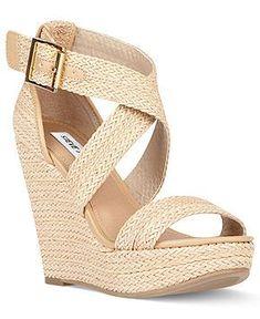 Steve Madden Shoes, Haywire Platform Wedge Sandals - cute